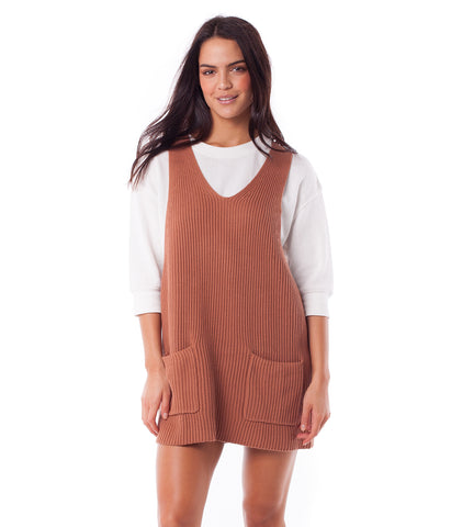 FLORENCE KNIT DRESS TERRACOTTA