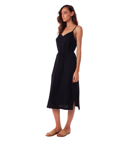 CAMILLE SLIP DRESS BLACK