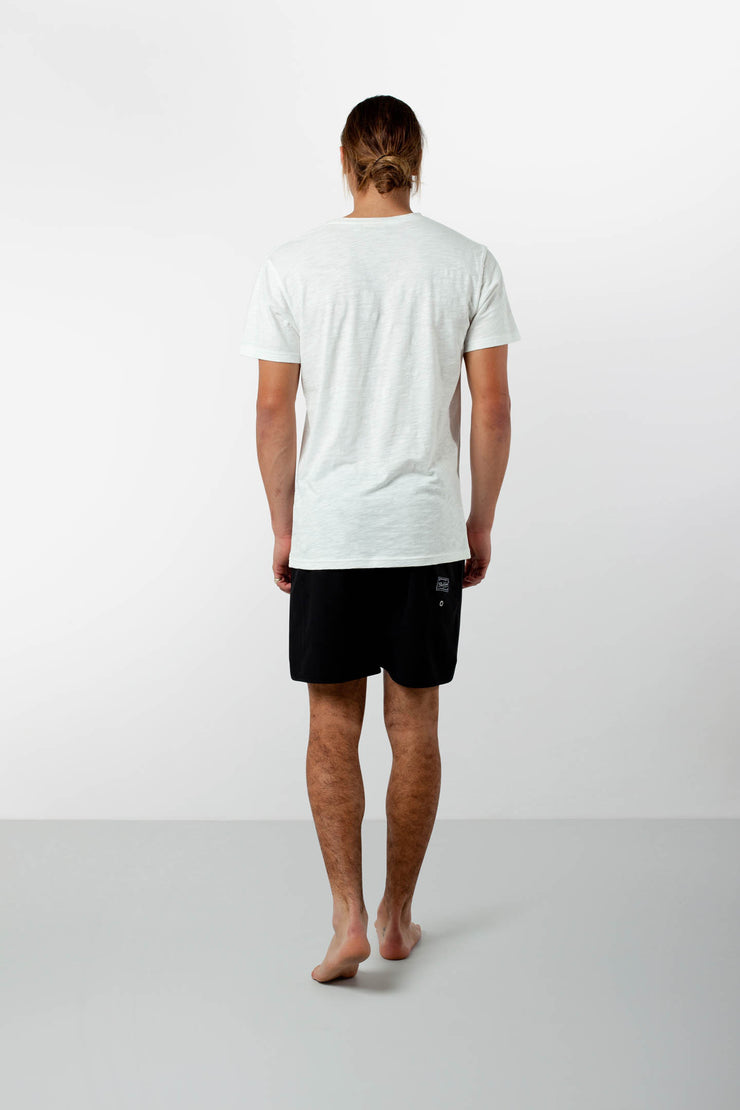 BLACK LABEL BEACH SHORT BLACK