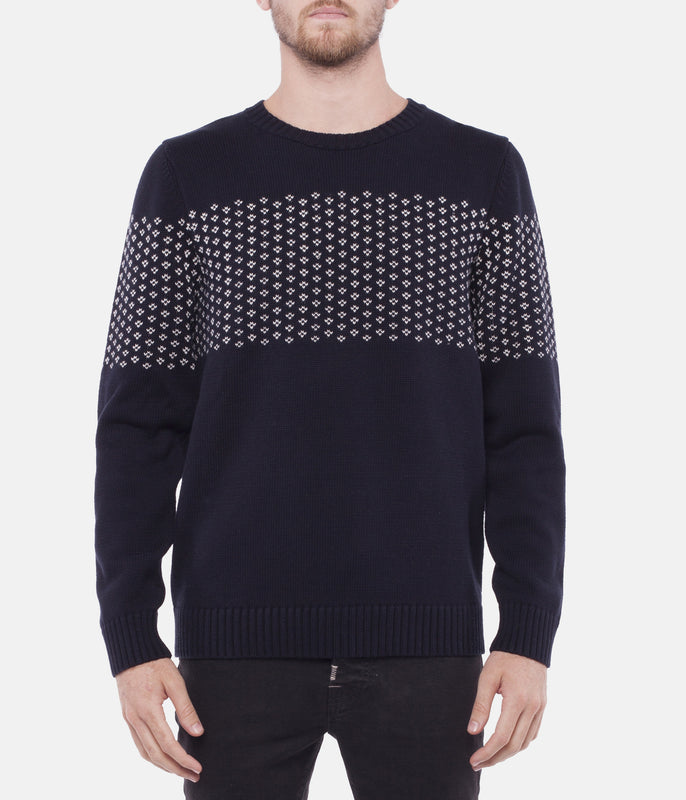SUFFOLK KNIT -Navy