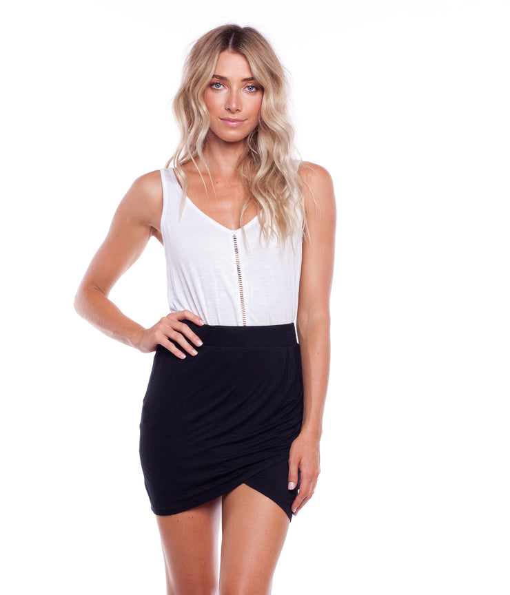 TWIST SKIRT BLACK
