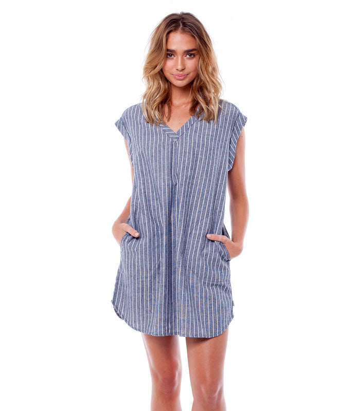 CASTAWAY DRESS NAVY