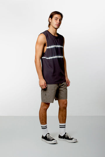 DOS STRIPE TANK BLACK