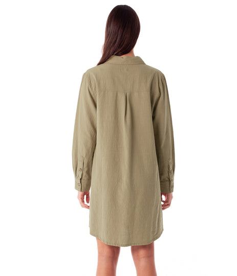 FIRST EDITION MAYA LONG SLEEVE DRESS IVY