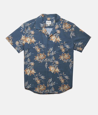 VINTAGE ALOHA SS SHIRT PACIFIC BLUE