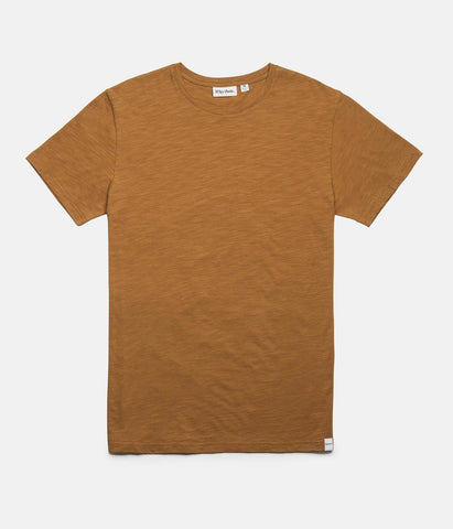 BASIC SLUB T-SHIRT ALMOND