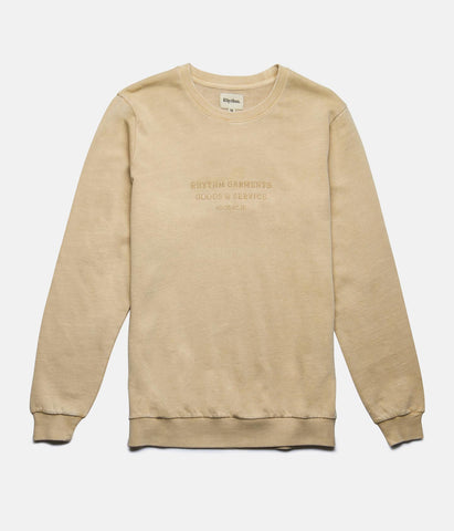 WASHED OUT PULLOVER FADED PEACH