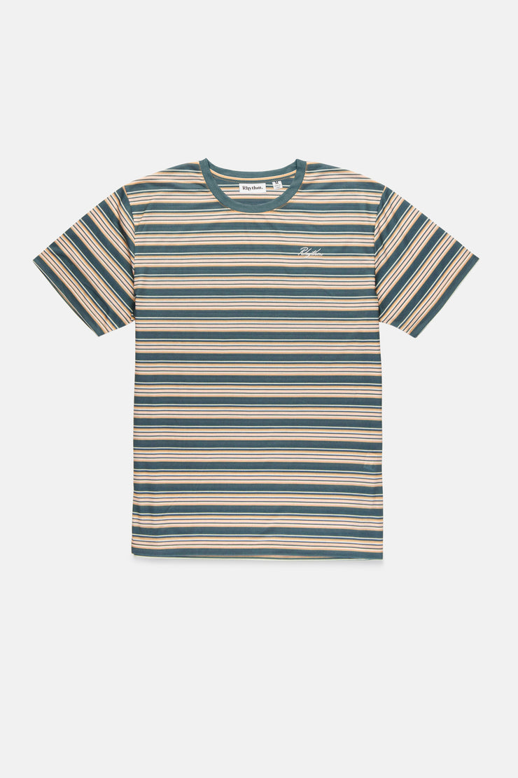 Everyday Stripe T-Shirt Teal
