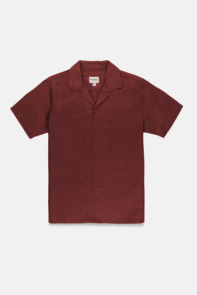 Linen Cuban SS Shirt Raisin