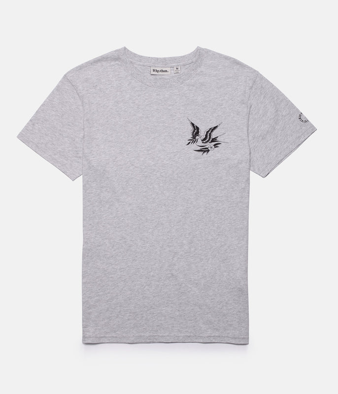 PEACE T-SHIRT GREY MARLE