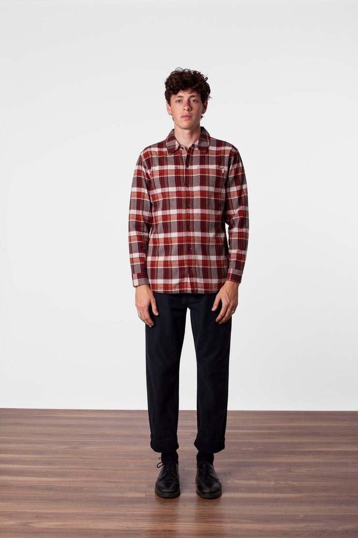WOODSMAN LS SHIRT MAPLE
