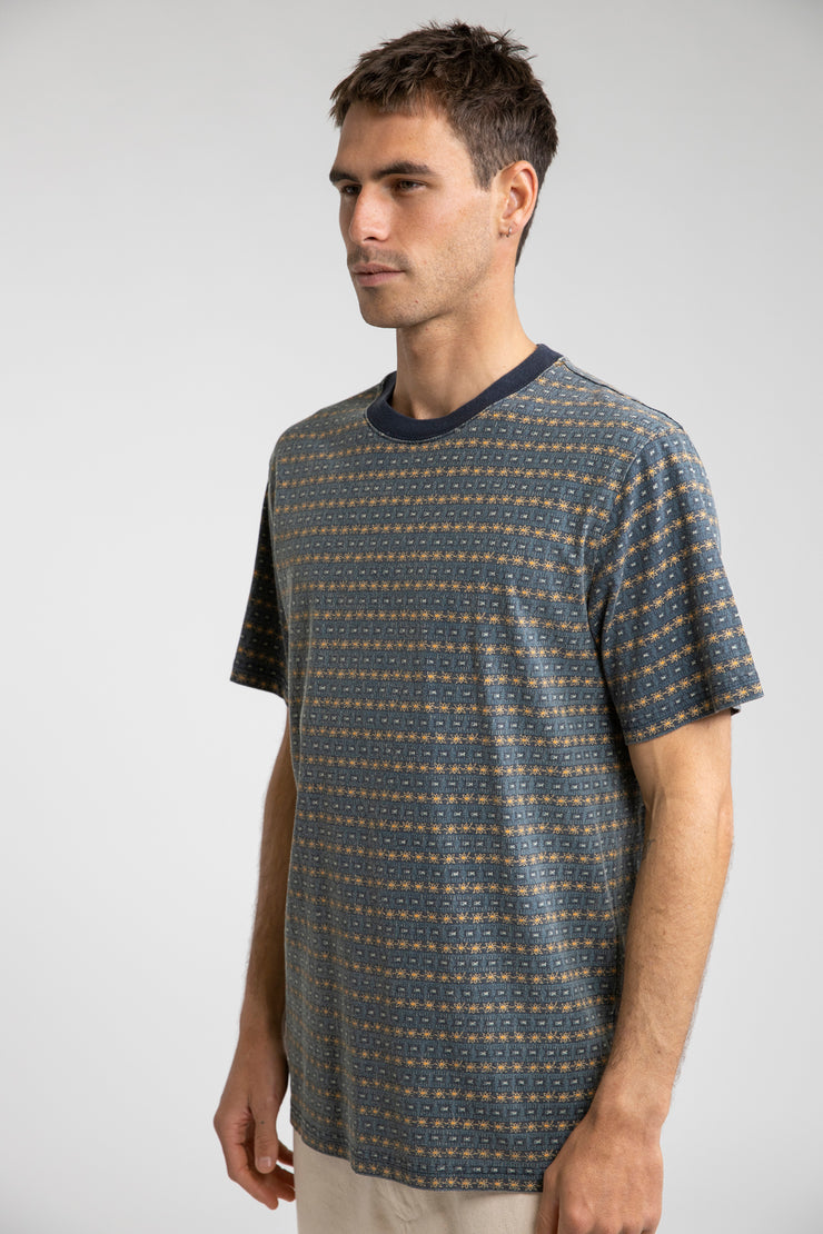Tribe Stripe T-Shirt Indigo