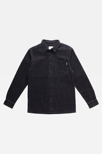 Corduroy Ls Shirt Black