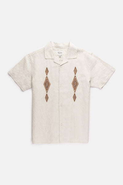 Desert Jazz Ss Shirt Natural White