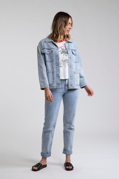 Boyfriend Denim Jacket Light Wash
