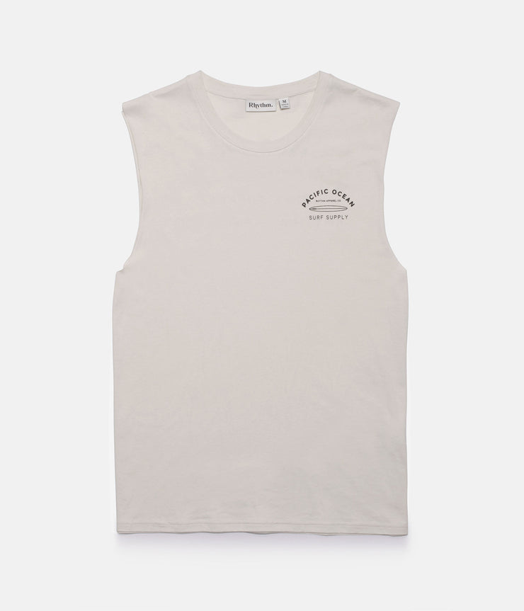 SURF SUPPLY TANK VINTAGE WHITE