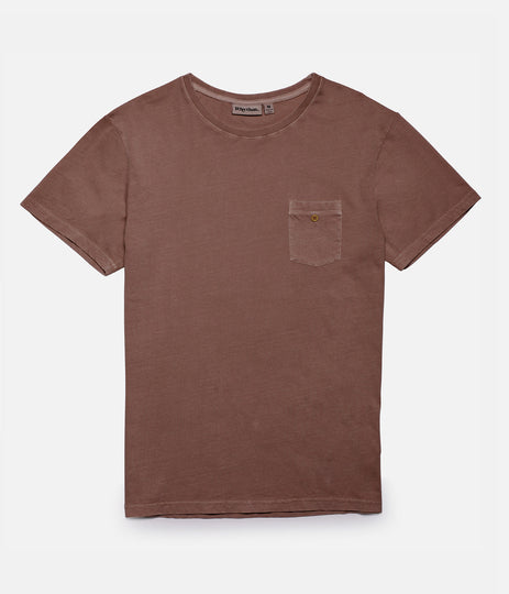 EVERYDAY WASH T-SHIRT WASHED OUT RUSSET