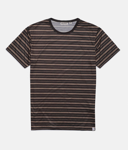 ESSENTIALS STRIPE T-SHIRT VINTAGE BLACK