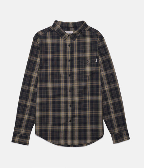 SUFFOLK LS SHIRT DARK OLIVE