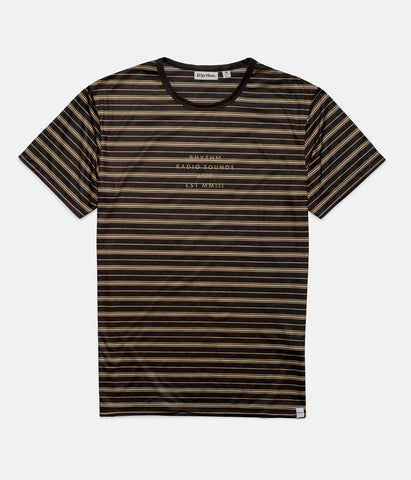LO-FI STRIPE T-SHIRT VINTAGE BLACK