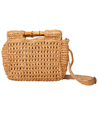 TIKI CLUTCH BAG STRAW