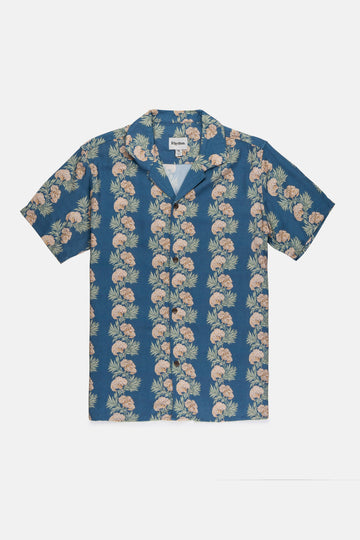 Honolulu SS Shirt Pacific Blue