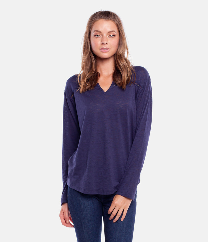 MY LONG SLEEVE TOP NAVY