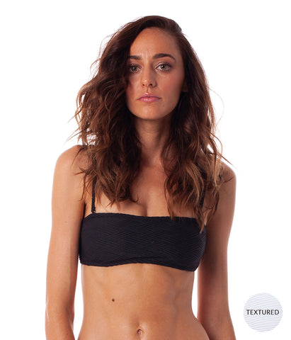 MALDIVES BANDEAU TOP BLACK