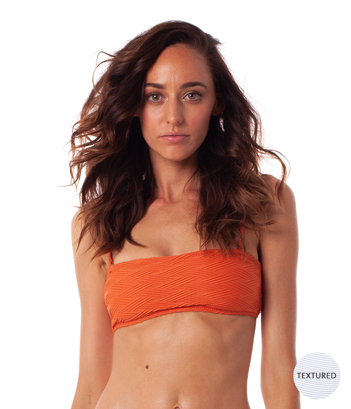 MALDIVES BANDEAU TOP RUST