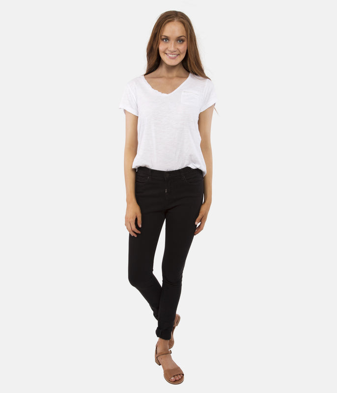 NO. 102 MID RISE JEAN - BLACK INK