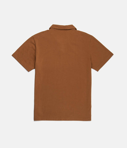 HERITAGE POLO SHIRT TOBACCO