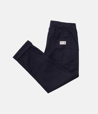 LINEN BEACH PANT DARK NAVY