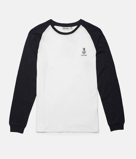 SINKER LS T-SHIRT NAVY / WHITE