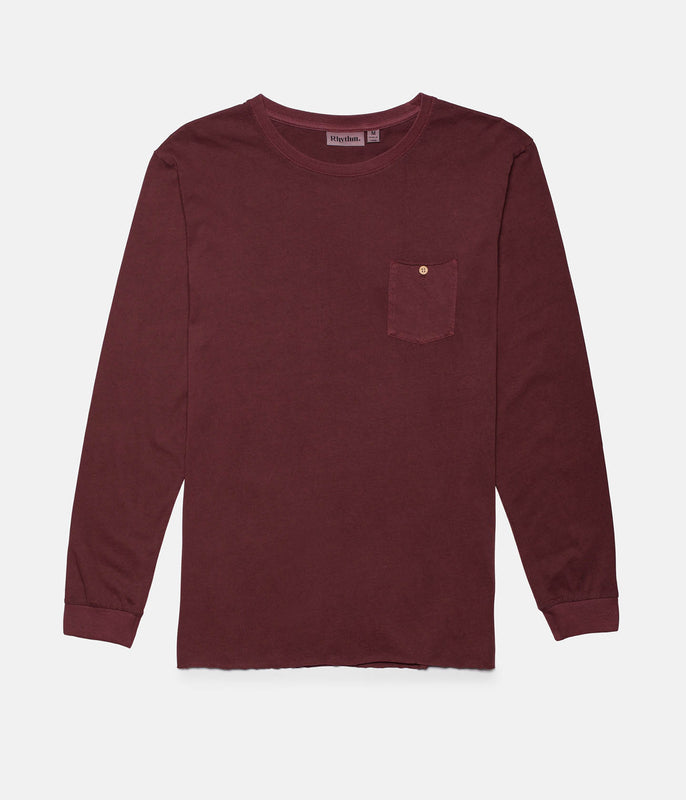 EVERYDAY WASH LS T-SHIRT DUSTED TAUPE