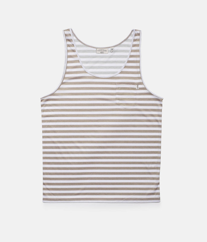 EVERYDAY STRIPE SINGLET SAND