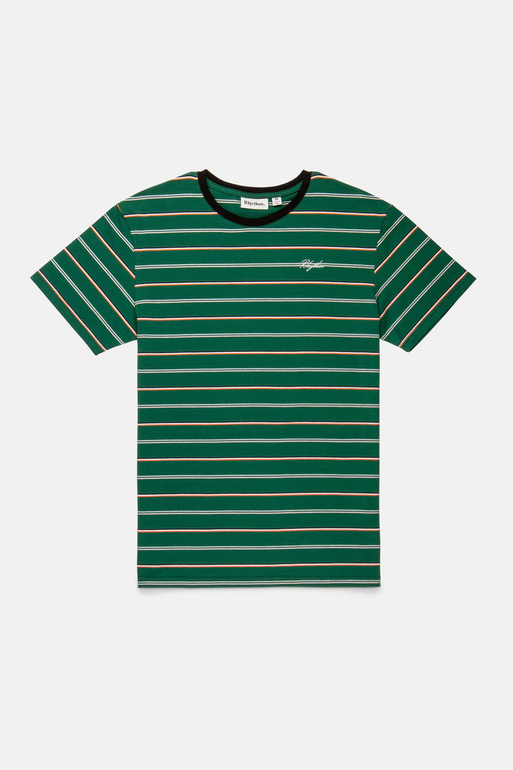 EVERYDAY STRIPE T SHIRT TEAL