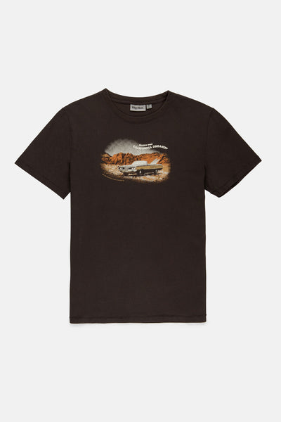 HEADING WEST VINTAGE T SHIRT WASHED CHARCOAL