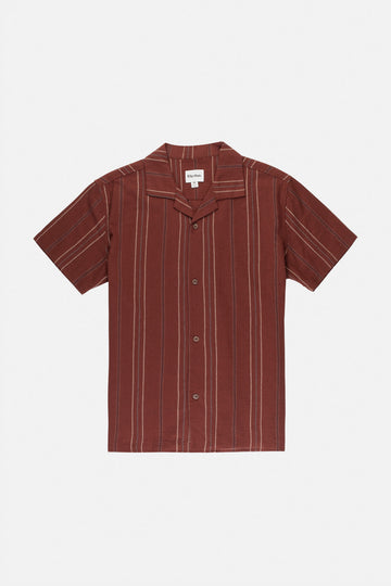 Vacation Stripe Ss Shirt Merlot