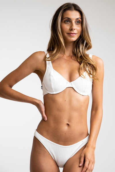 Tulum Underwire Top White