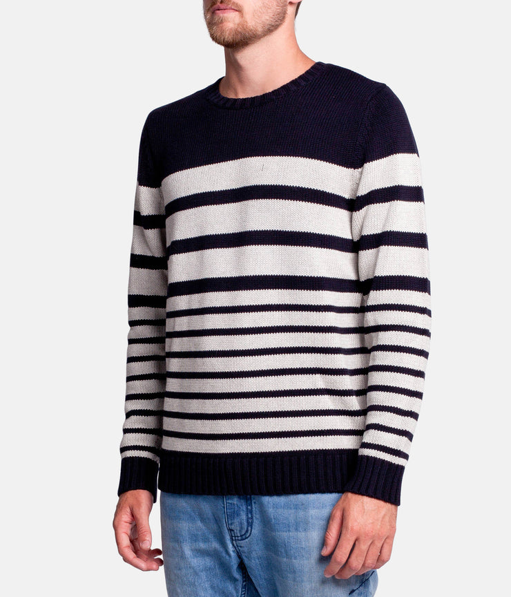 OLIVERS STRIPE KNIT NAVY