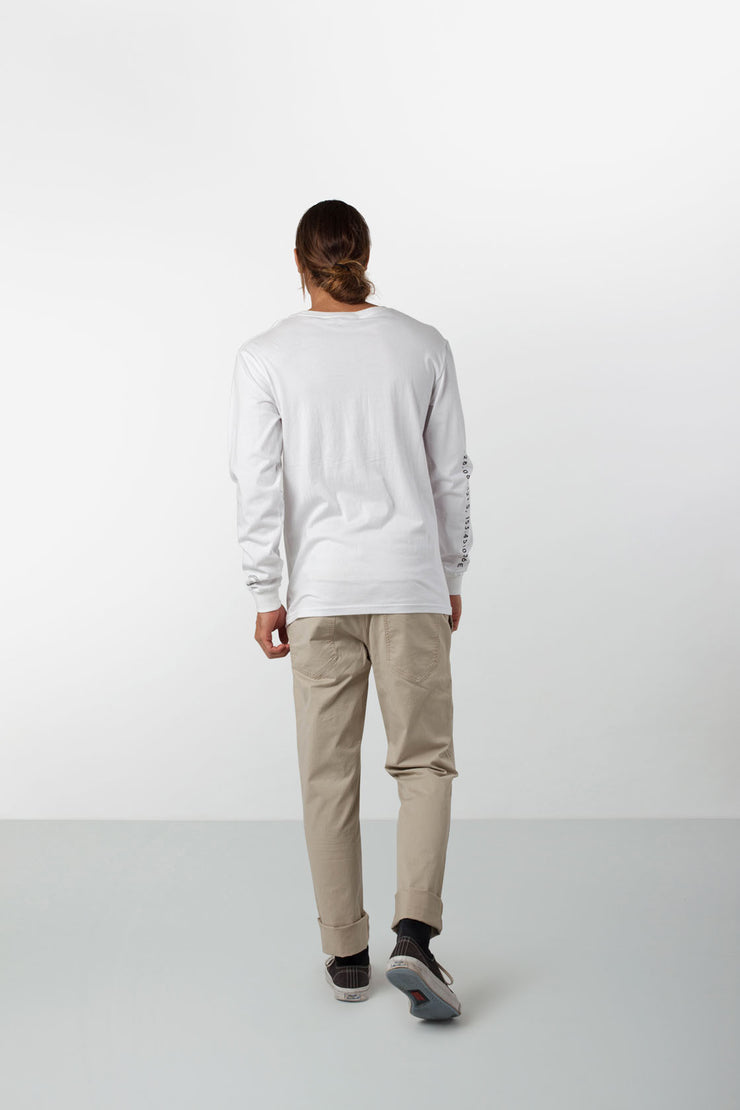 BARRACKS LS T-SHIRT WHITE
