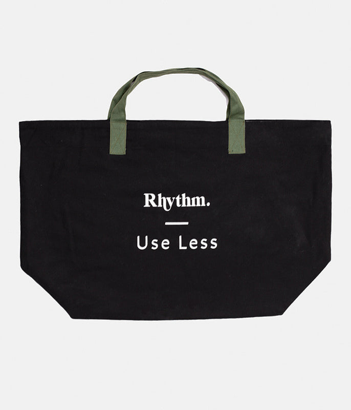 USE LESS BEACH TOTE BLACK