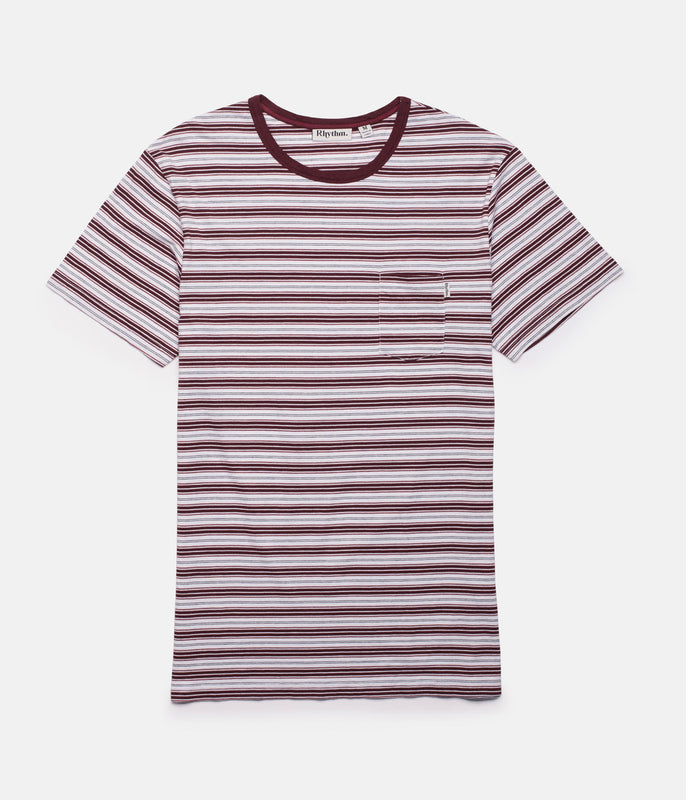 EVERYDAY STRIPE T-SHIRT VINTAGE RED