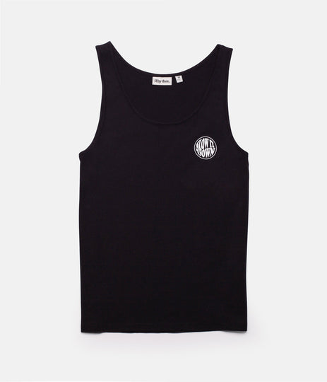 SLOW DOWN SINGLET BLACK