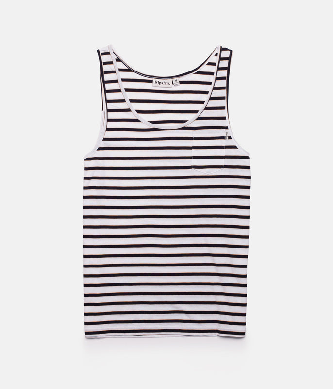 EVERYDAY STRIPE SINGLET CLASSIC NAVY