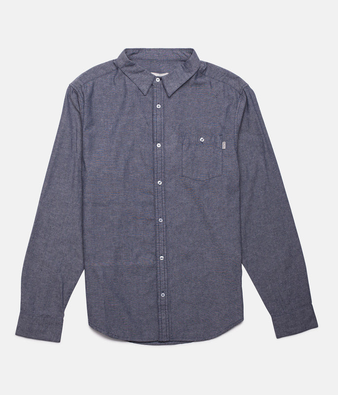 EVERYDAY OXFORD LS SHIRT NAVY