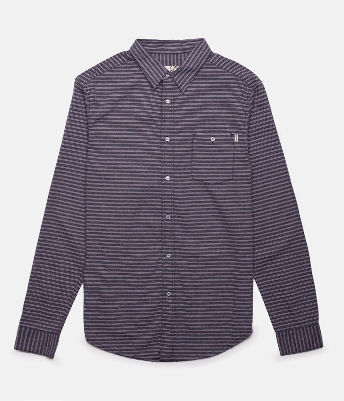 NEEDLES LS SHIRT NAVY