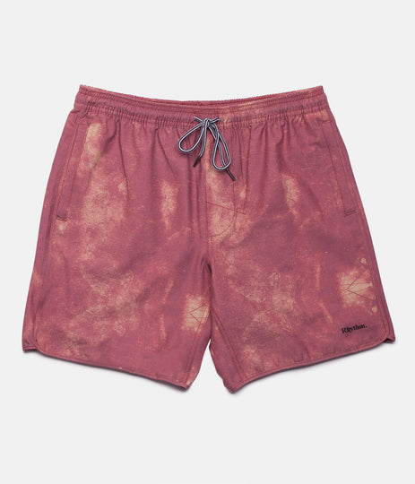 WASHED OUT BEACH SHORT VINTAGE RED