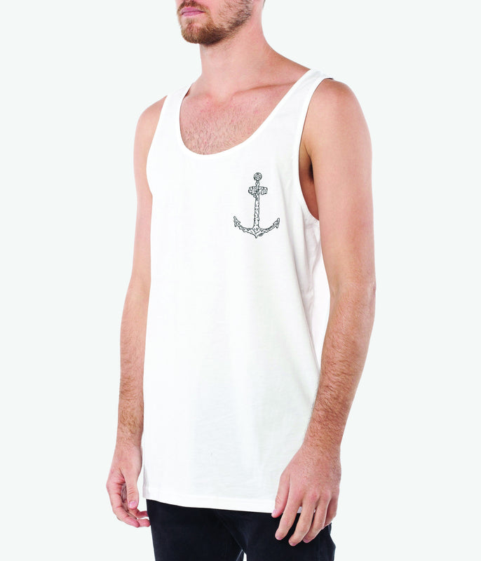 OIL SPILL SINGLET -White