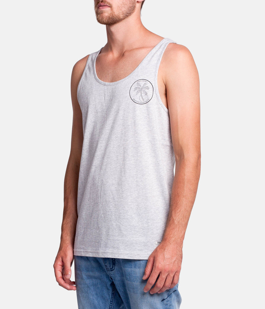PALM DOWN SINGLET  GREY MARLE